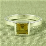 Mosaic™ Stacking Ring with Square 6mm Gem