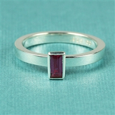 Mosaic™ Stacking Ring with Verical 2.5mm x 5mm Baguette Gem