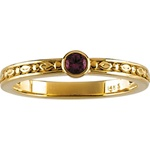 Stackable Birthstone Ring with Round Gems