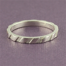 Mosaic™ Textured Stacking Ring