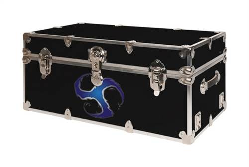 Blue Vortex Design College Trunks - Large