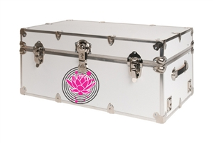 Custom Lotus Design Large College Dorm Trunk