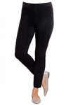 Lysse Back Split Faux Suede Legging in Black