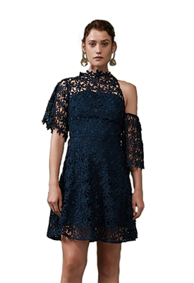 Keepsake Stay Close Mini Dress in Navy