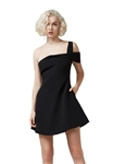 Keepsake Shooting Star Mini Dress in Black