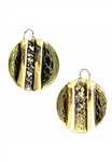 Sibilla G Oxidized Brass Circle Earrings