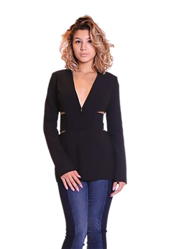 Asilio Midnight Run Cut Out Jacket in Onyx