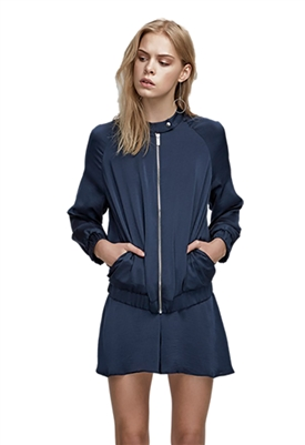 Finders Keepers Rene Bomber Jacket in Charcoal