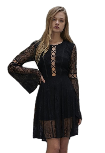 The Jetset Diaries Majestic Mini Dress in Black