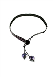 Sibilla G Alligator Embossed Leather Choker