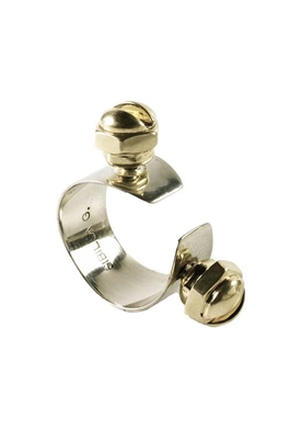 Sibilla G Screw Cuff Ring in German Silver