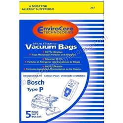 Bosch Paper Bag Type P Canister Micro 5 Pack Replacement.  Manufacturer's Model/Part Number: 1446.