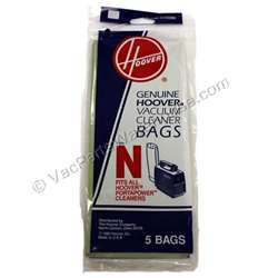 Hoover Paper Bag Type N Porta Power 5 Pack