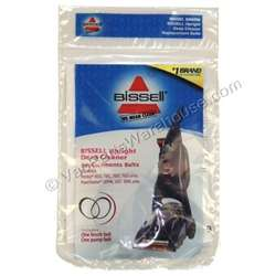 Bissell Proheat Gear Flat Belt 2 pack. Manufacturer's Part Number: 6960W.  Fits Bissell Models: