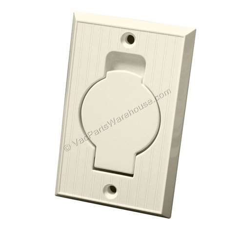 Central Vac Inlet Valve With Round Door Almond 791500a