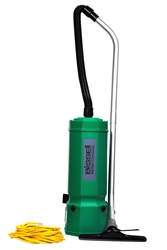 Bissell Big Green Advance Filtration 10-Quart Backpack Vacuum, 7 tools, hose, 2 piece wand, backrest. 10.5 lbs. #BG1001