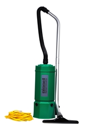 Bissell Big Green Advance Filtration 6-Quart Backpack Vacuum, 7 tools, hose, 2 piece wand, backrest. 9.5 lbs. #BG1006
