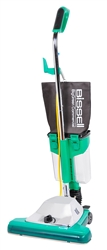 "Bissell Big Green ProCup16"" Commercial Upright vacuum, 870 watt motor, Comfort-Grip Handle, 50' power cord, dirt cup, magnet bar, lifetime warranty on fan. #BG102DC"
