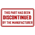Discontinued or on long-term back order
