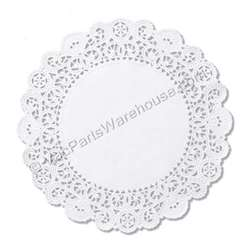 "5"" White Bond Round La Doily 2000/Case"