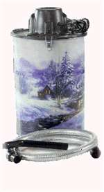 Loveless Fireplace Ash Vacuum Cheetah Winter Scene 3Gal