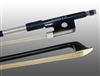 VIOLIN BOW CARBON COMPOSITE, HALF-LINED EBONY FROG,  NICKEL WIRE GRIP