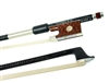 VIOLIN BOW BRAIDED CARBON FIBER ROUND, FULLY LINED SNAKEWOOD FROG, STERLING SILVER WIRE GRIP & TIP