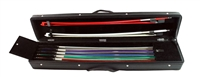 SIX - EIGHT BOW CASE: VIOLIN, VIOLA, OR CELLO