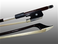 BASS BOW FRENCH ADVANCED COMPOSITE, FULLY-LINED EBONY FROG, NICKEL WIRE GRIP