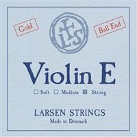 LARSEN VIOLIN E STRONG BALL END GOLD