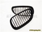 Matte Black Kidney Grill BMW E60 E61 5 Series Sedan Touring 2004-2010