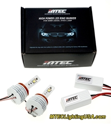 MTEC H8 V4 26W Cree LED BMW Angel Eye Bulbs E90 E91 3 Series 2009-2011 (2018 Model)