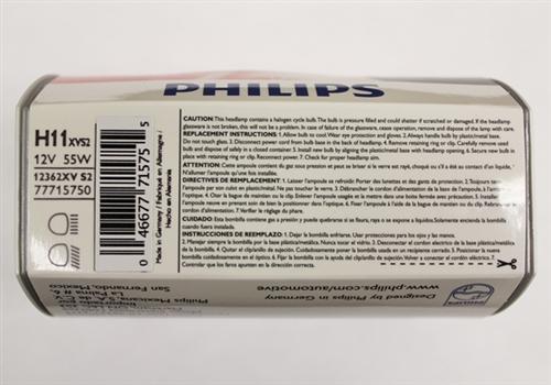 Philips H7 X Treme Vision Halogen Bulbs H11xvs2