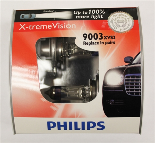 philips h4 hb2 9003 x treme vision 9003xvs2 bulbs. Black Bedroom Furniture Sets. Home Design Ideas