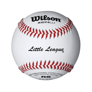 WILSON LITTLE LEAGUE RAISED SEAM BASEBALLS - DOZEN