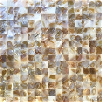 Mother of Pearl Genuine Seashell Mosaic Tile 1x1