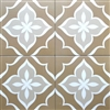 8X8 Flora Weathered Brown Porcelain Stoneware Tile