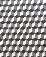 Hexagonal 3D 8x8 Cement Tile