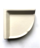 Corner Shelf Almond Ceramic Thinset Mount