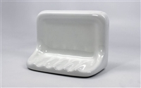 Shower Soap Dish White Ceramic Thinset Mount