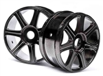 HPI67768 HB Edge Wheel in Black Chrome 1/8 Buggy - Package of 2