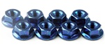 KYO1-N4045F-B Kyosho Blue Steel Flanged Nut M4x4.5mm - Package of 10