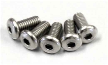 KYO1-S12606HT Kyosho Titanium Button Hex Screw M2.6x6mm - package of 5