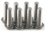 KYO1-S13012HT Kyosho Titanium Button Hex Screw M3x12mm - Package of 8