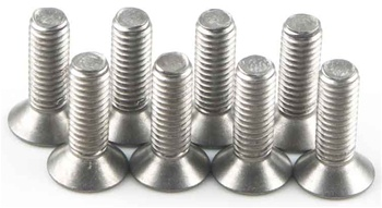 KYO1-S33010HT Kyosho Titanium Flat Head Hex Screw M3X10mm - Package of 8