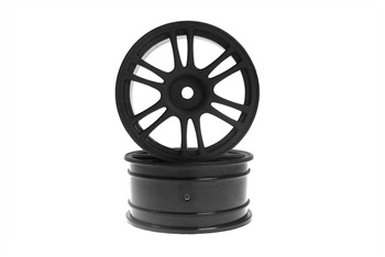 KYO92015BK Kyosho Wheel 12-Spoke/26mm/Black - Package of 2