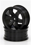 KYOFAH201BK Kyosho EP Fazer Kobra Black Front Wheel - Package of 2