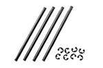 Kyosho Suspension Shafts with E-clips 4x74mm for Inner Lower Control Arms - Package of 4