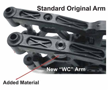 KYOIF427B Kyosho Inferno MP9 WC Front Lower Suspension Arms Left and Right - Heavy Duty