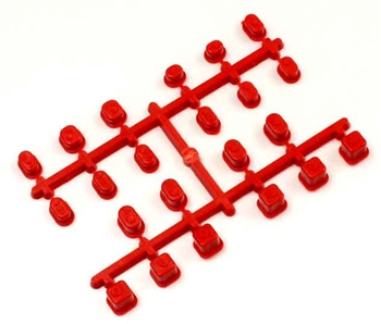 KYOIF442KR Kyosho Inferno MP9 Suspension Insert (Bushing) Set - Red
